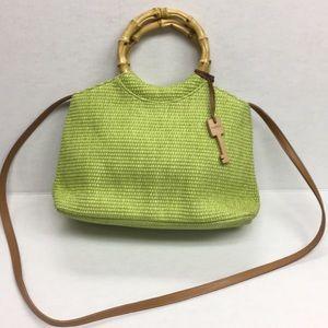 Fossil Shoulder Bag-Lime Green